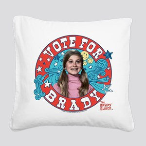 The Brady Bunch: Vote For Mar Square Canvas Pillow